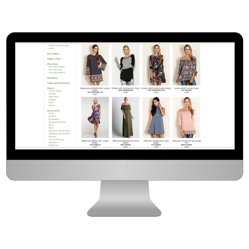 Buy inventory for your boutique with our wholesale clothing supplier list. This fashion ebook features 131 wholesale suppliers for women's clothing, plus size clothing, kid's apparel, accessories and jewelry