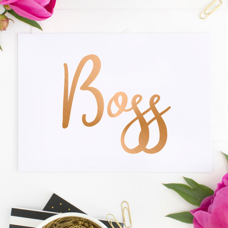 Metallic Boss Printable Download Office Decor