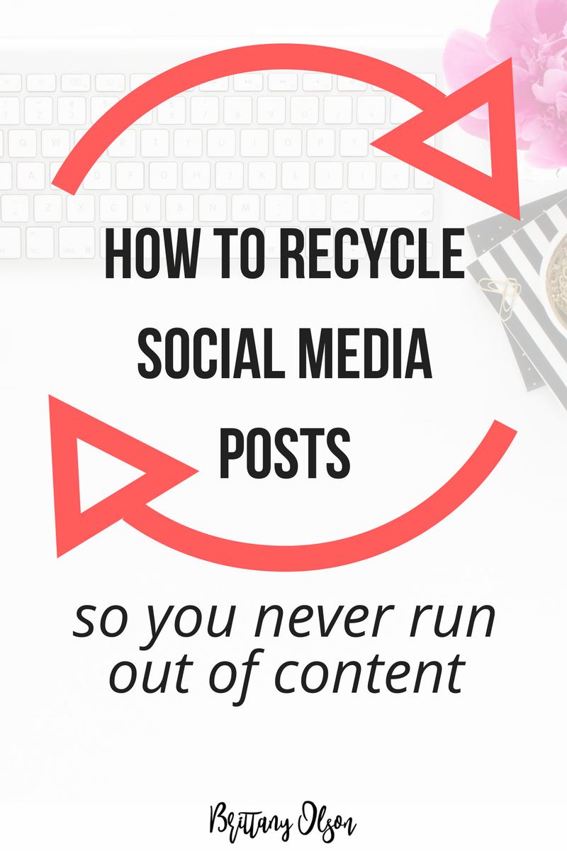 How to Recycle Social Media Content - Meet Edgar Alternative