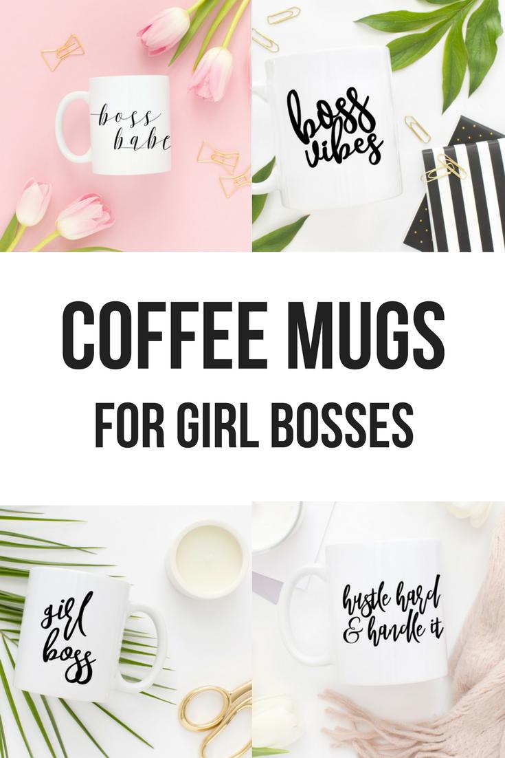 Coffee Mugs For Female Entrepreneurs, Girl Boss Mugs, Boss Lady Mug