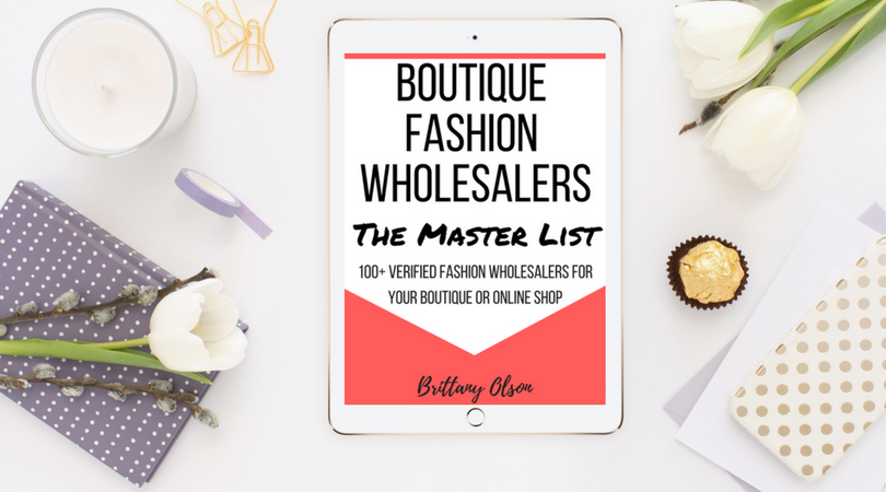 Fashion Wholesaler Master List - $47