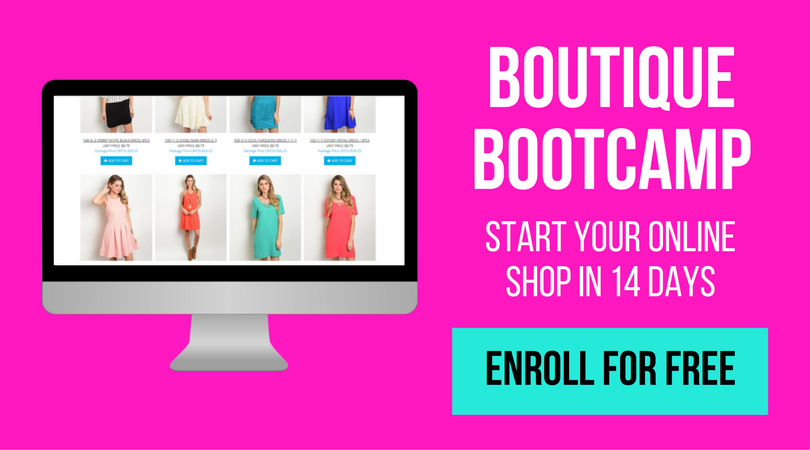 how to start an online boutique free course