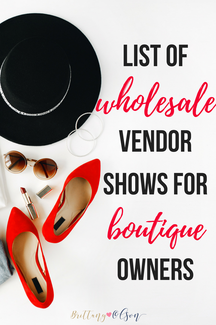 wholesale apparel shows for boutique owners