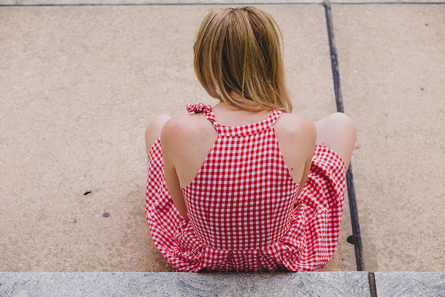 Red and White Gingham Dress // Similar  here