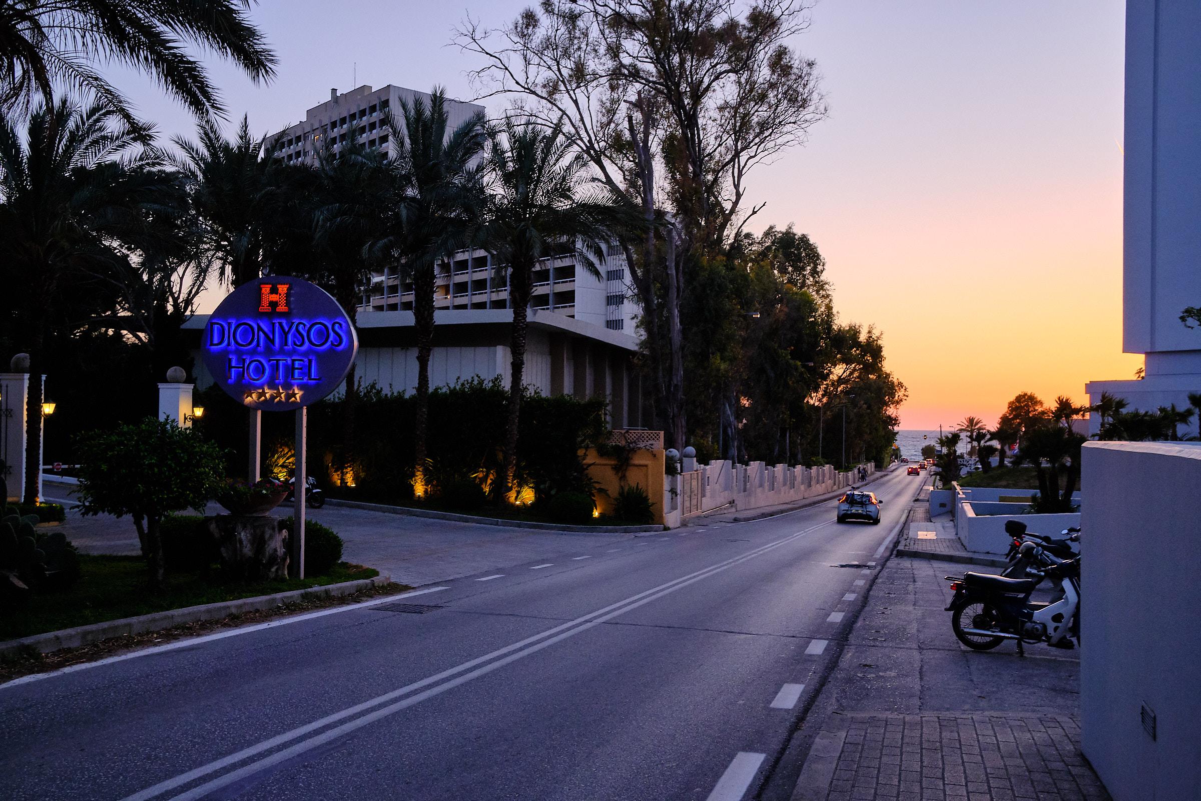 Vårat hotell på vänster sida