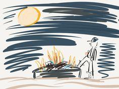 Bonfire Reflections