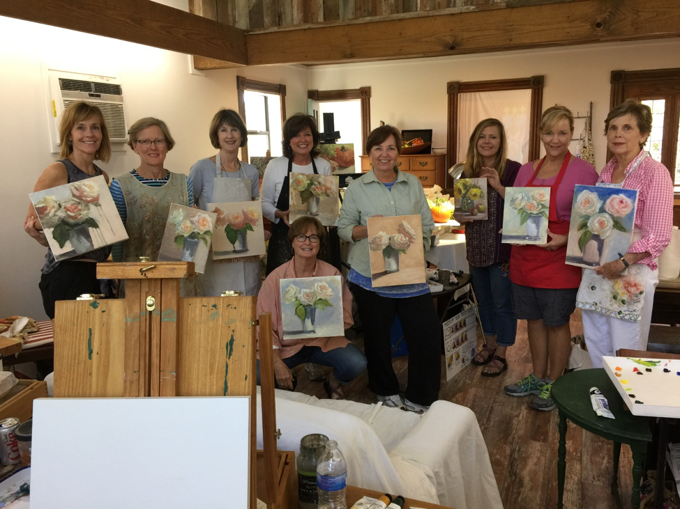 Final thoughts... - Thanks, Barbara, for sharing your knowledge, skills, enthusiasm and energy with all of us. Thank you Paige, Susie, Rebecca, Anne, Diane, Beth, Georgeanne and Denise for bringing the art spirit with you to Tallapoosa School of Art and for your enthusiasm and high spirits throughout. Thank you Bob and George for assisting us with our heavy loads and ensuring our safety on the water. And, as always, special thanks to Chef Brad and Pam for opening your home to all of us. Until we meet again….Peace, DorothyP. S. George and I truly appreciate the kindness of Barbara's students and our guests at the Blue Heron lodge whose comments are included below.