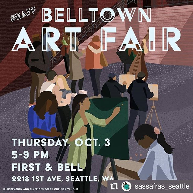 THIS THURSDAY OCTOBER 3RD is the first annual Belltown art fair! Go check them out, we highly recommend 💋💋 #Repost @sassafras_seattle • • • • • • Come see us on the runway this Thursday, October 3rd at the first annual Belltown Art Fair! This is a free event, all ages, and a fundraiser for the Belltown Art Walk. Being a friend or the whole family for music, drinks, live painting, jewelry and art for sale, and a fashion show with Belltown boutiques. #baff #belltown #artfair #artexhibition #community #music #snacks #wineparty