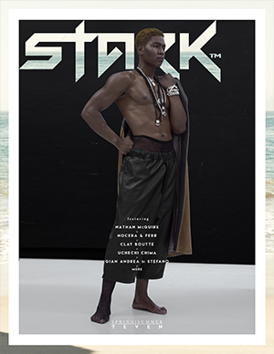 Enjoy the hot weather with a fresh glass of Stark's 7eventh Chapter. This cover features Staniel @ DNA Models lensed by Gian Andrea di Stefano. Dip in for more!
