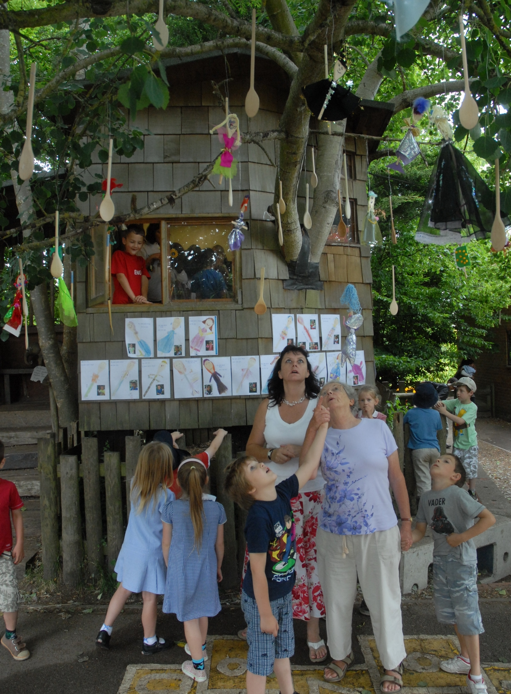 A treehouse at Coombes in years past.