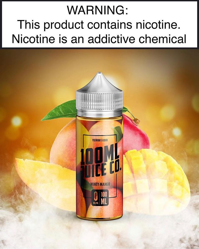 Minty Mango from @100mljuiceco_  is a fresh and fruity vape that will have you coming back for more! 🥭🥭🥶 ————————————— ❗️Tag a shop if you want to see this product on the shelves❗️ #vape #vapelife #vapenation #vapeporn #premium #eliquid #vapemalaysia
