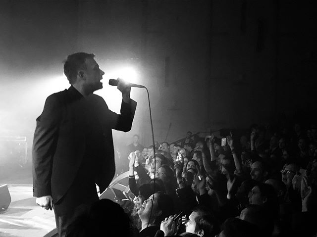 I know I seem to only ever post pictures from gigs these days but it seems to be the only time I take a photo at the moment.  Damon Albarn with The Good, the Bad & the Queen in Dalston last night.