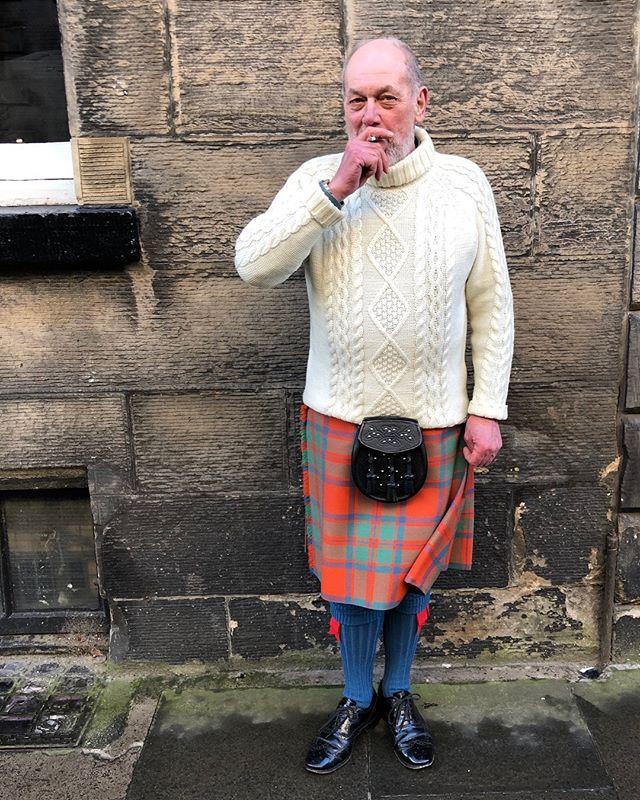 John Mackintosh, Highland Piper (off duty)