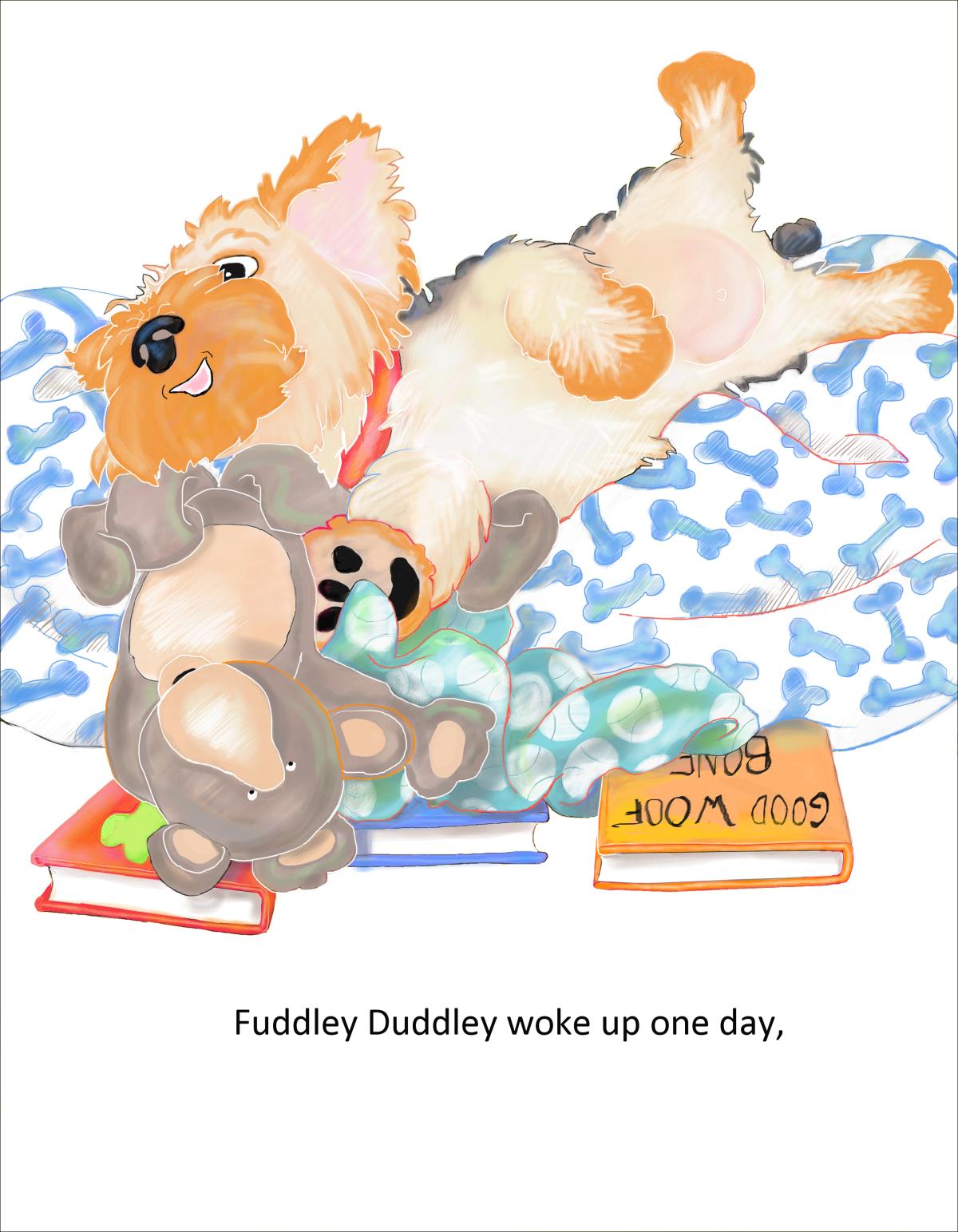 Elizabeth Martin Fuddley Duddley Pg 1 Waking Up