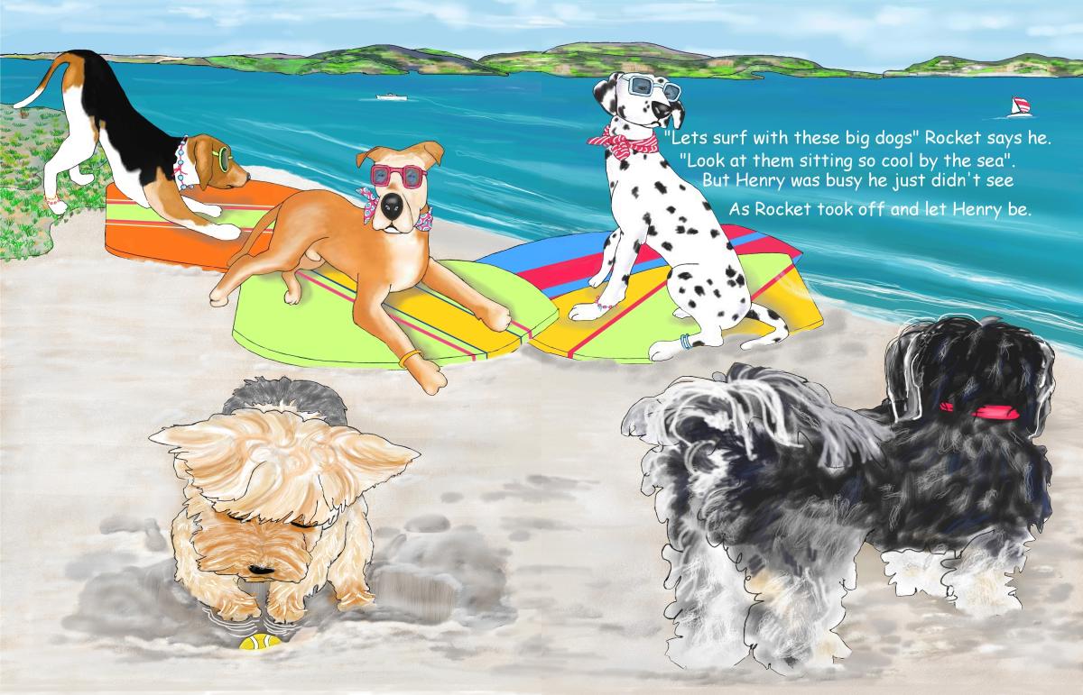 Elizabeth Martin Henry and Rocket Pg 5 Cool Dogs