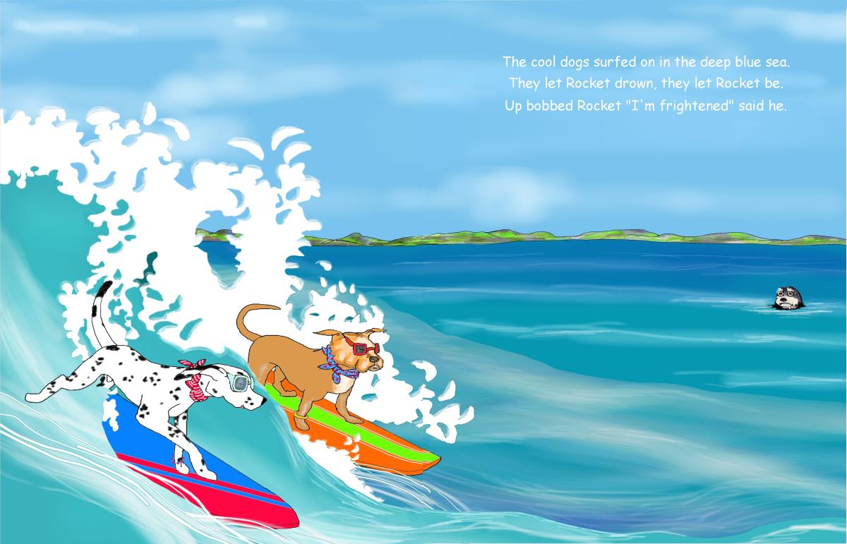 Elizabeth Martin Henry and Rocket Pg 8 Left By Surfers