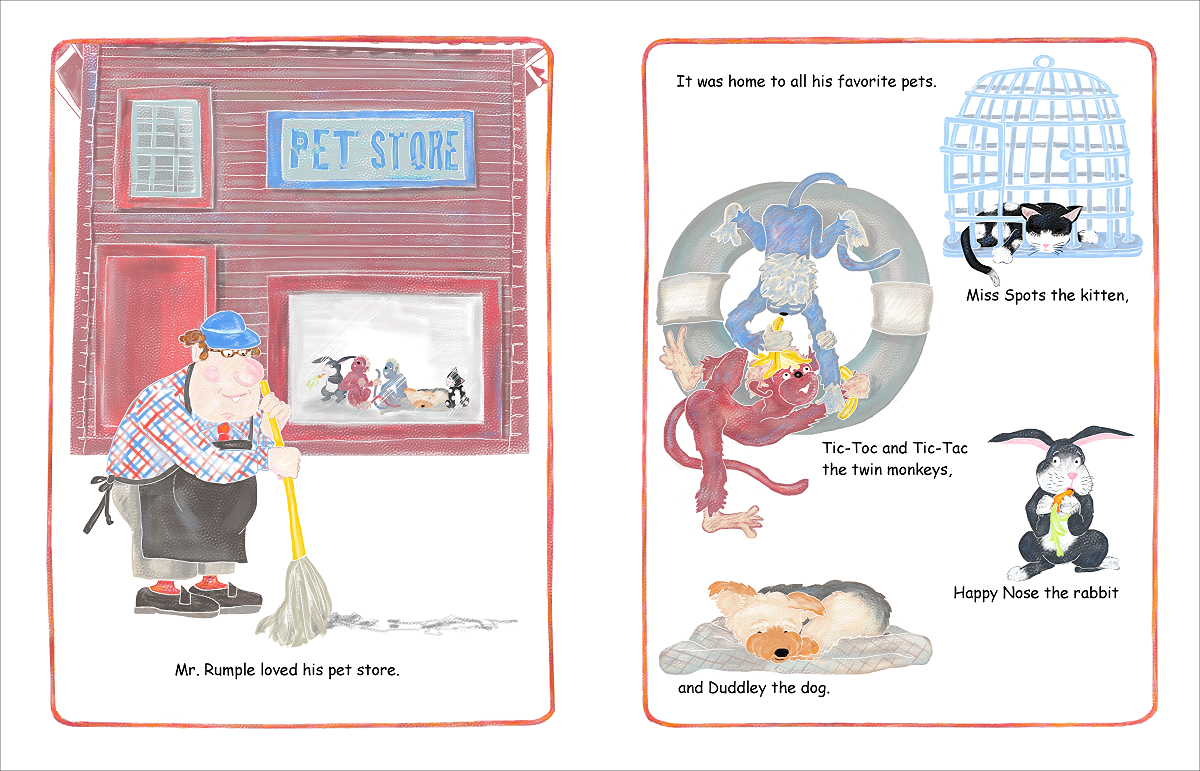 Elizabeth Martin Mr Rumple's Pet Store Pg 1 Sweeping