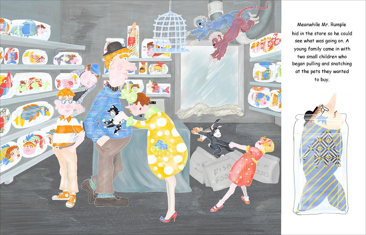 Elizabeth Martin Mr Rumple's Pet Store Pg 7 Extra Customers