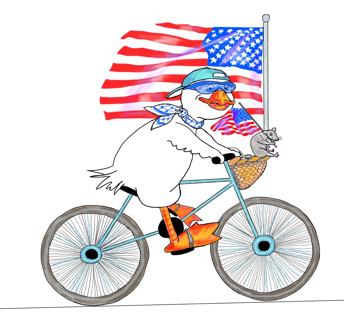 Flag Day, Illustration by Elizabeth B Martin
