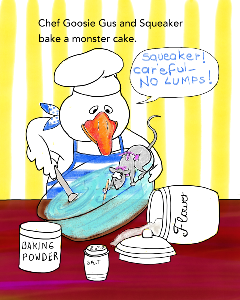 Baking a Monster Cake, by Elizabeth B Martin