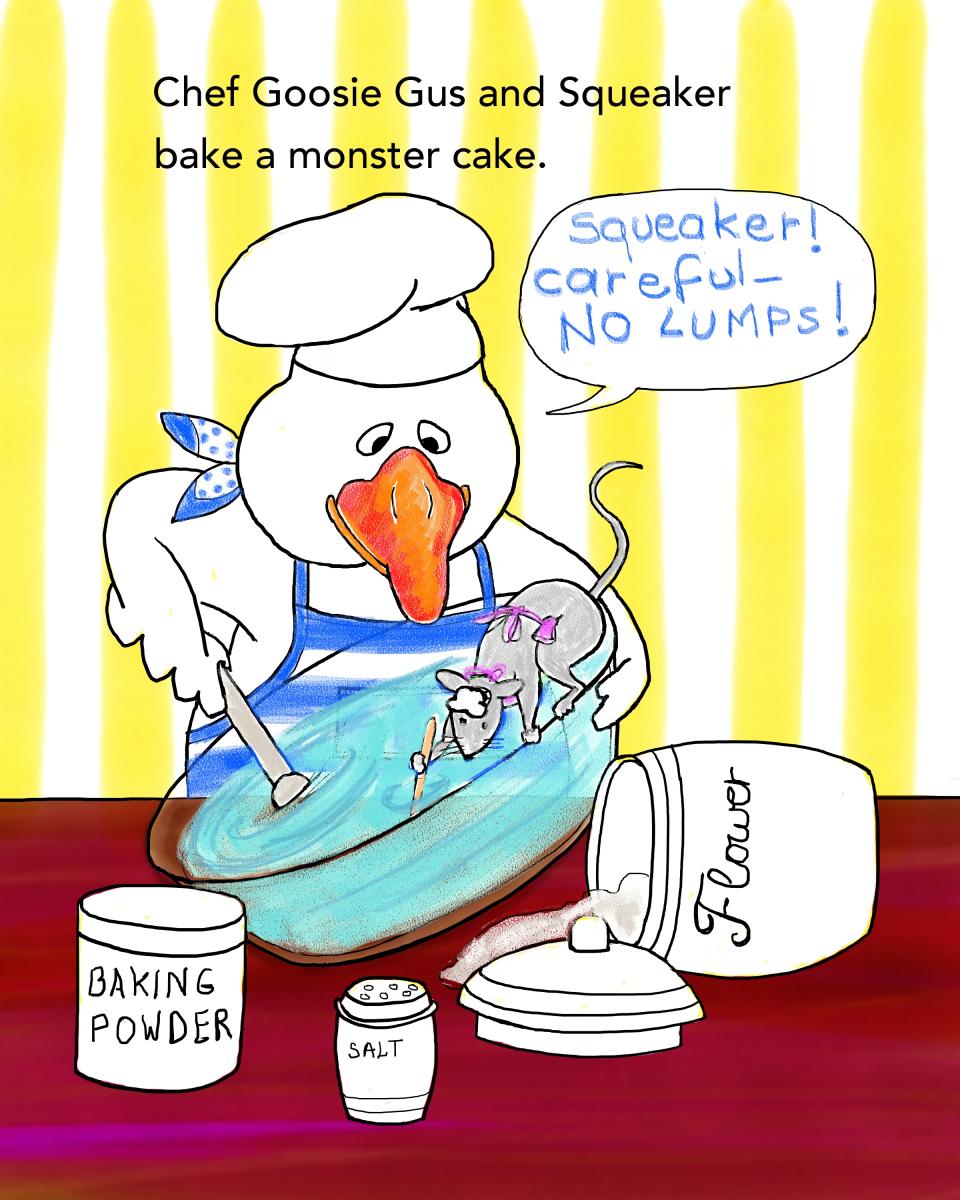 Baking a Monster Cake, by Elizabeth B Martin