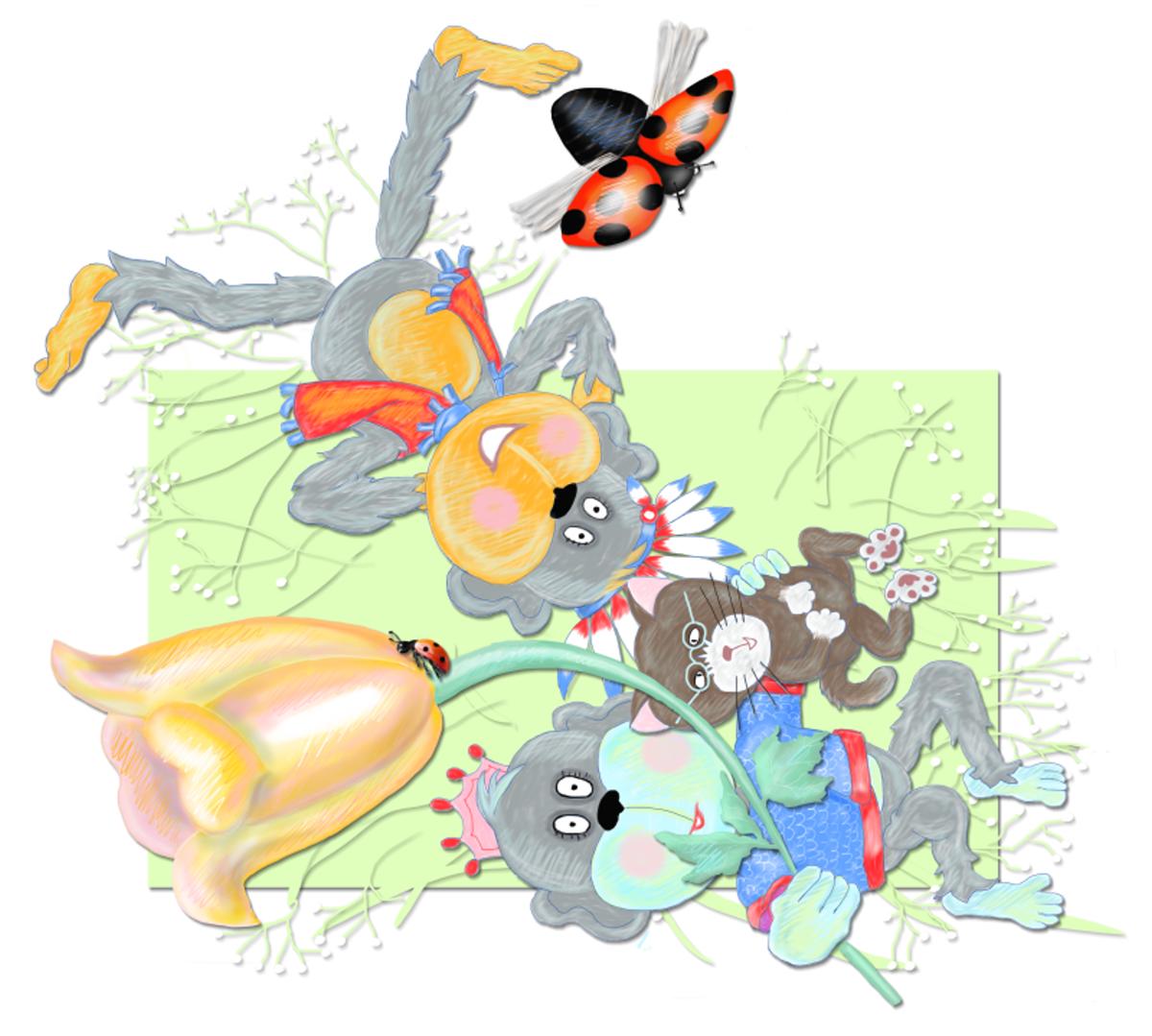 Looking For Ladybugs, by Elizabeth B Martin