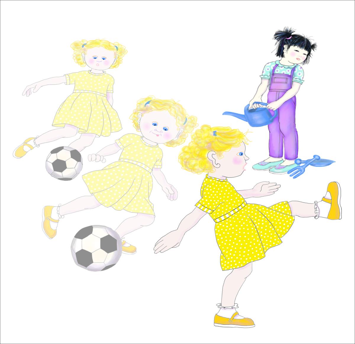 Sophie the Soccer Player, illustration by Elizabeth B Martin