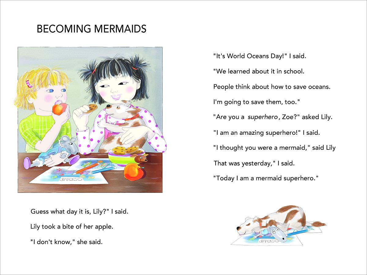Mermaid Superheroes p 4-5 oceans day