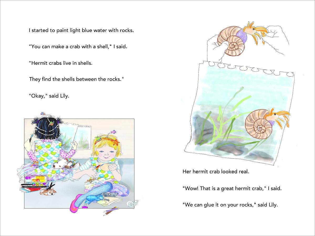 Mermaid Superheroes p 22-23 hermit crabs