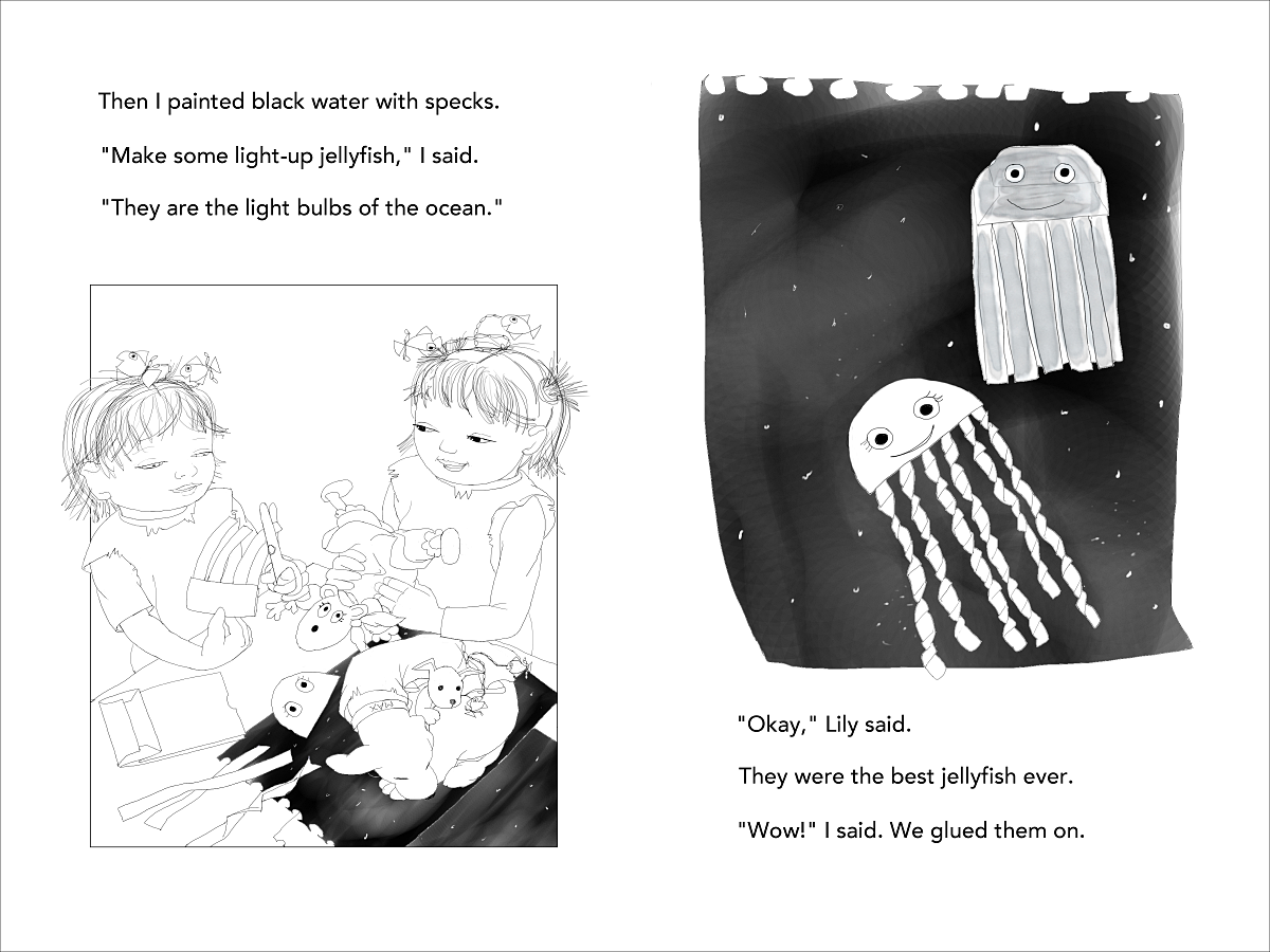 Mermaid Superheroes p 30-31 jellyfish