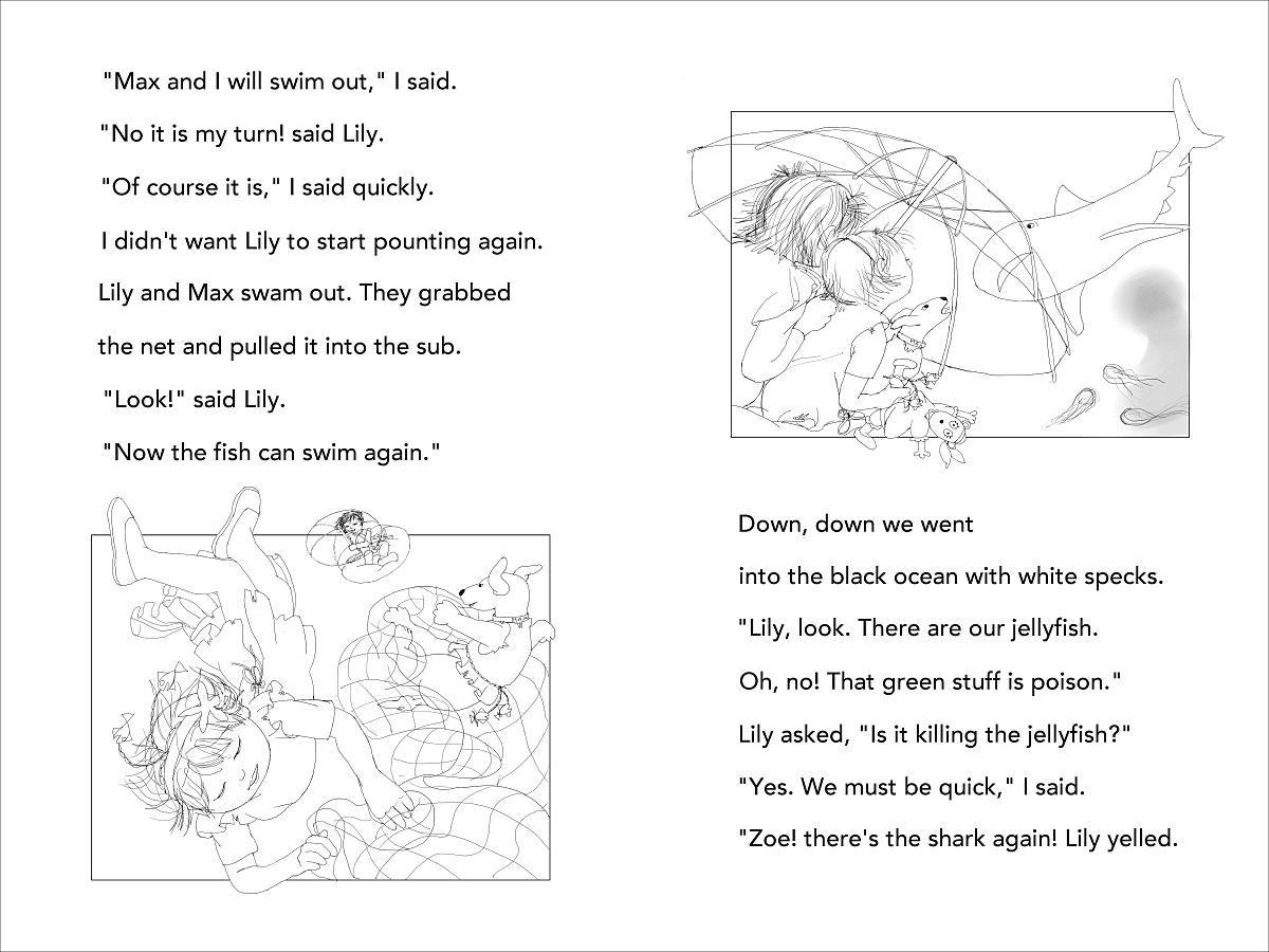 Mermaid Superheroes p 44-45 fish net