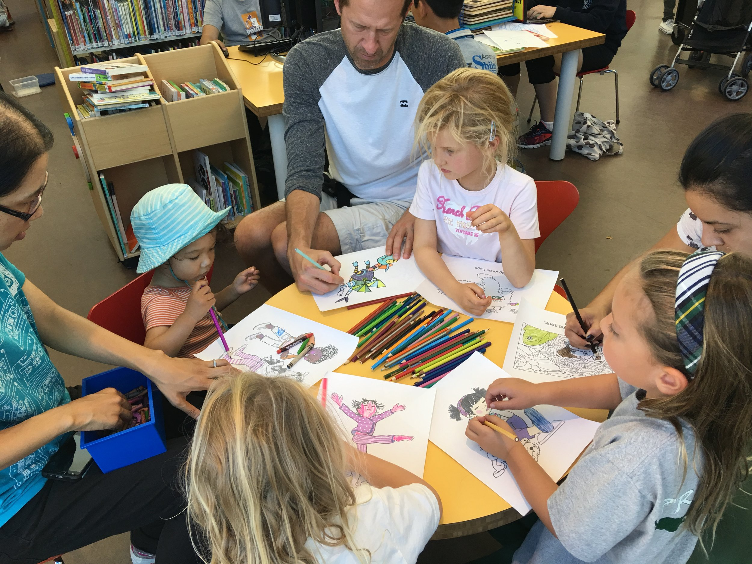 Fun at the North Beach Library with my Color and Write Stories!