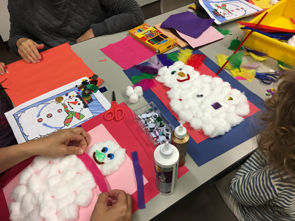 Art With Elizabeth Snowman Crafts!