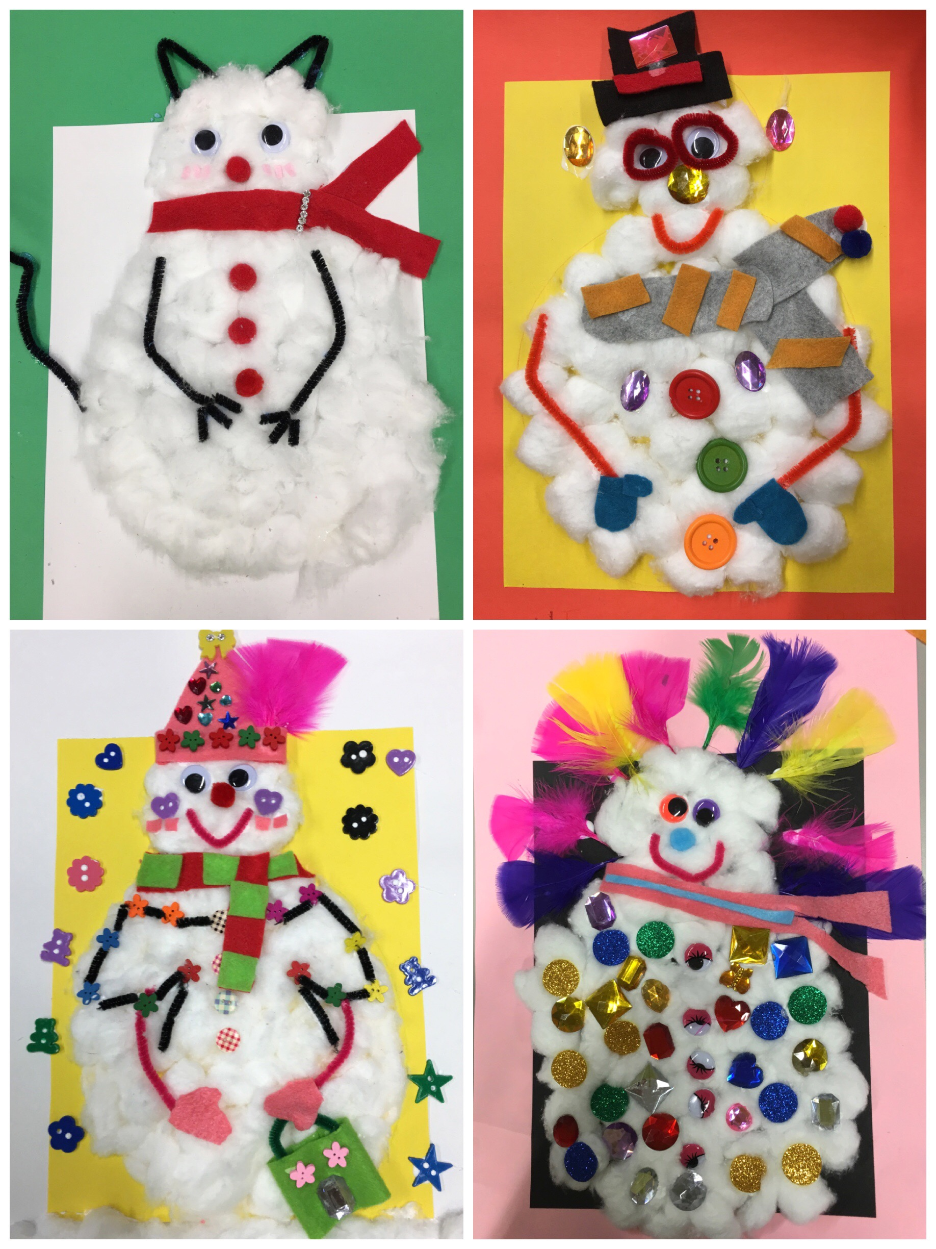 Some of the final snowmen!