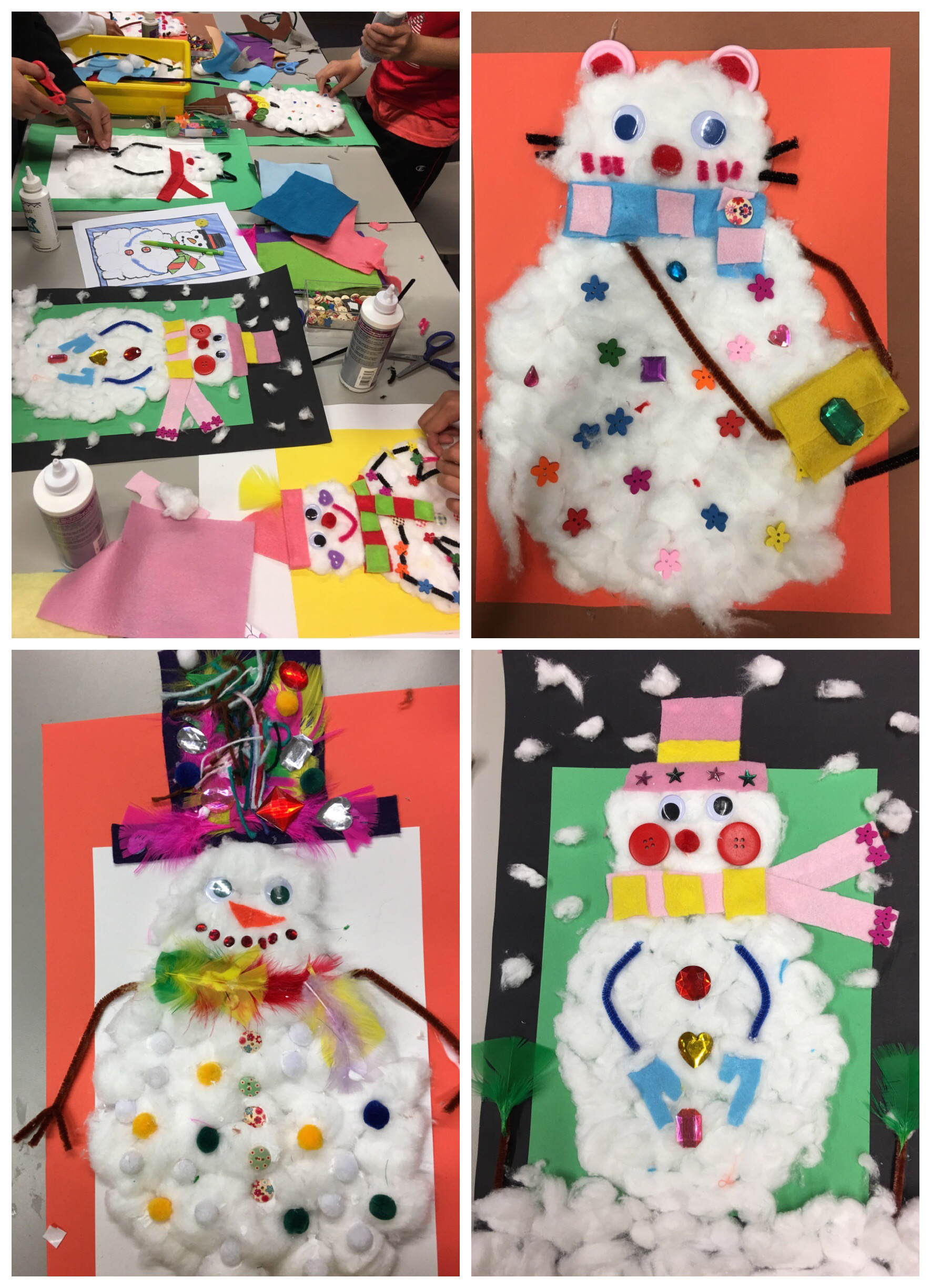 More Splendid Snowmen from Art With Elizabeth last week!
