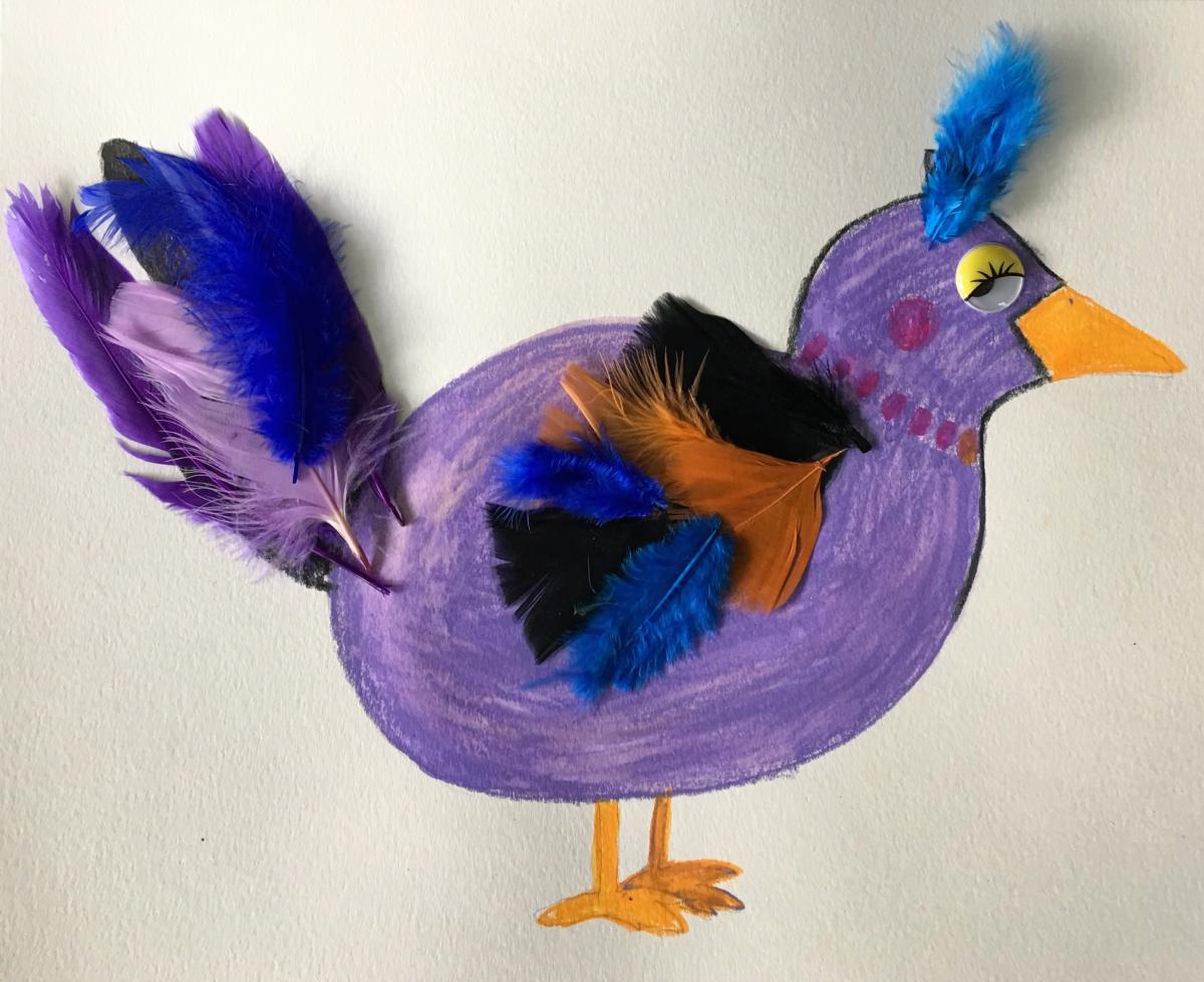 Purple Bird Craft