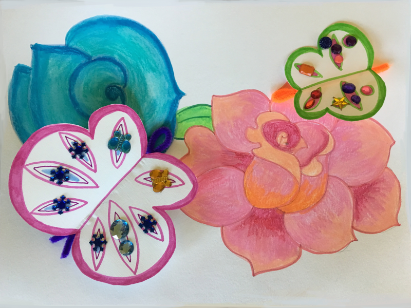 Flowers Butterflies 5