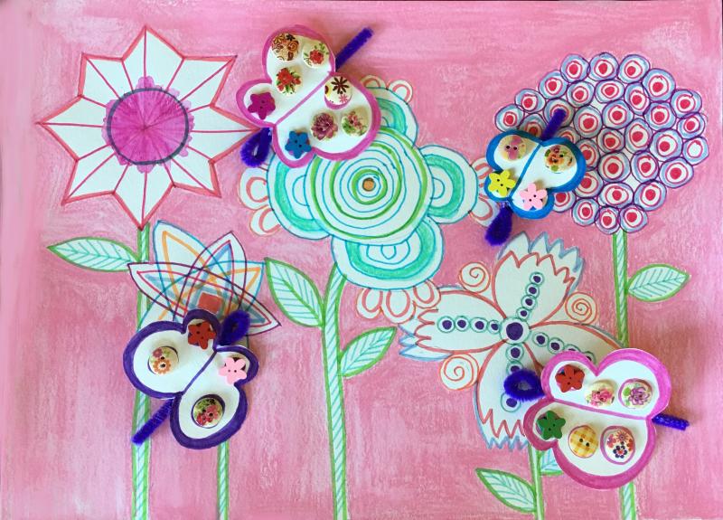 Flowers Butterflies 6