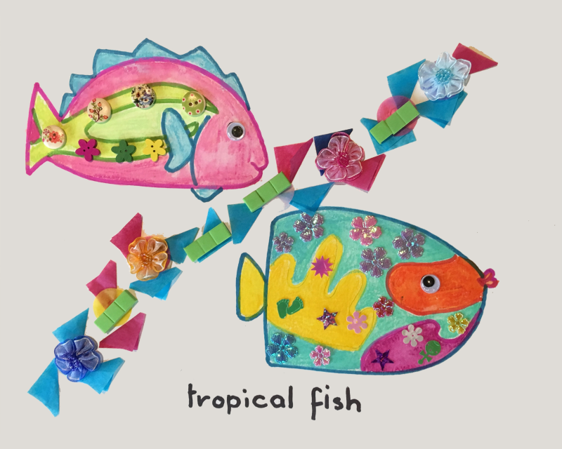 Tropical Fish Art and Craft