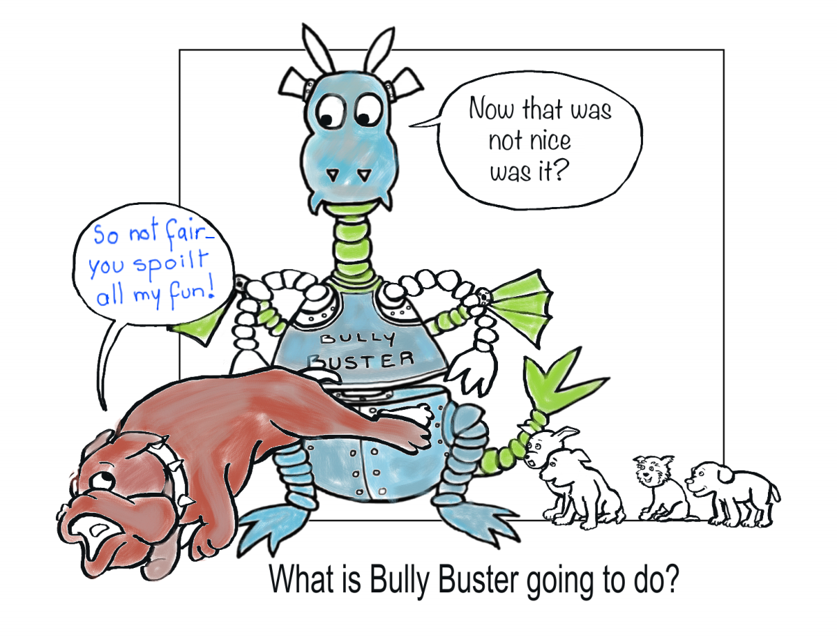 Page Two of Bully Buster and The Puppies by Elizabeth B Martin