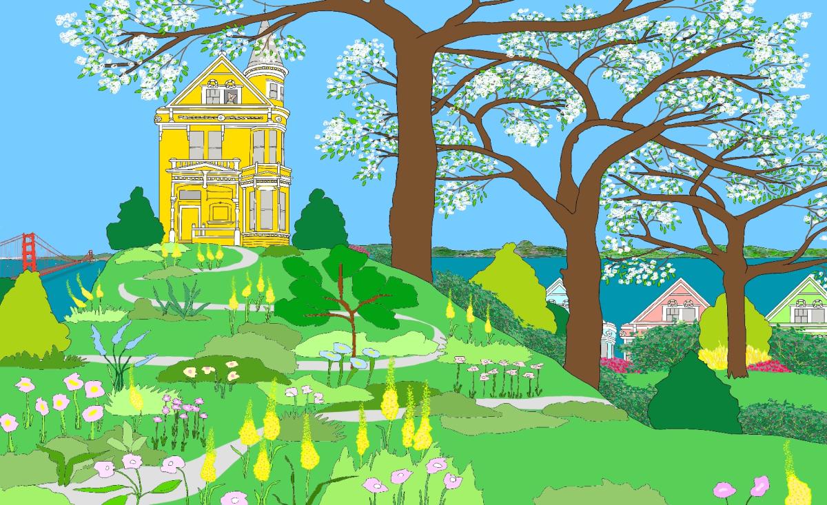 Henry's House, an Illustration by Elizabeth B Martin