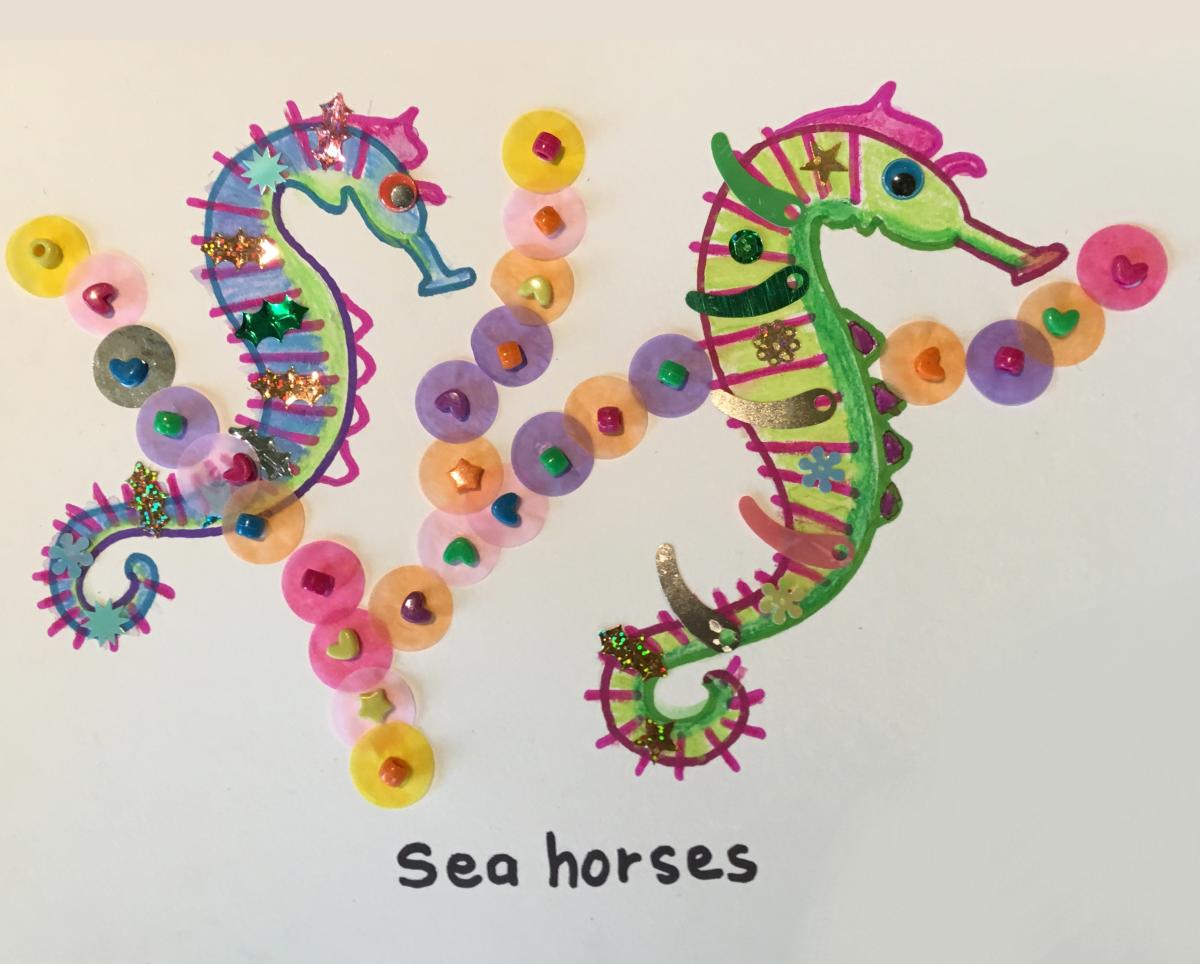 elizabeth martin seahorses craft