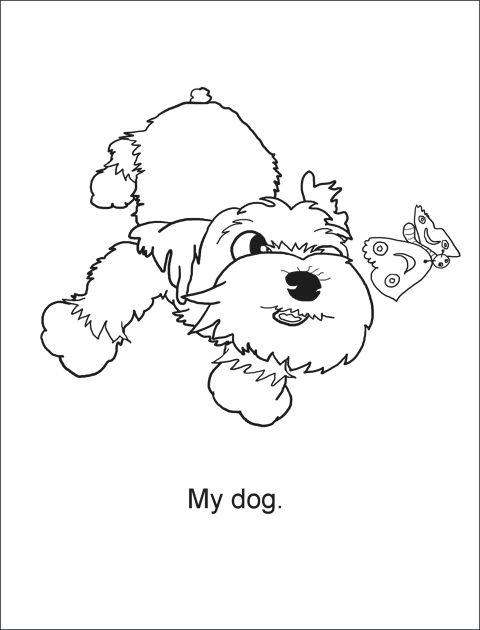 Page 1 from My Dog Henry Preschool Color Story.