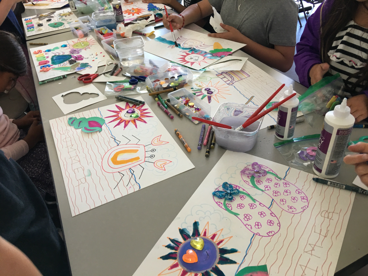 More splendid results from my SUMMER Art & Craft day at North Beach Public Library!