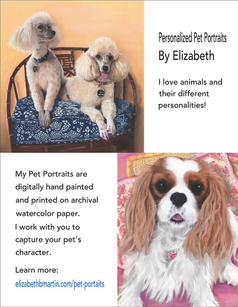 Contact me for a personalized portrait of your pet!