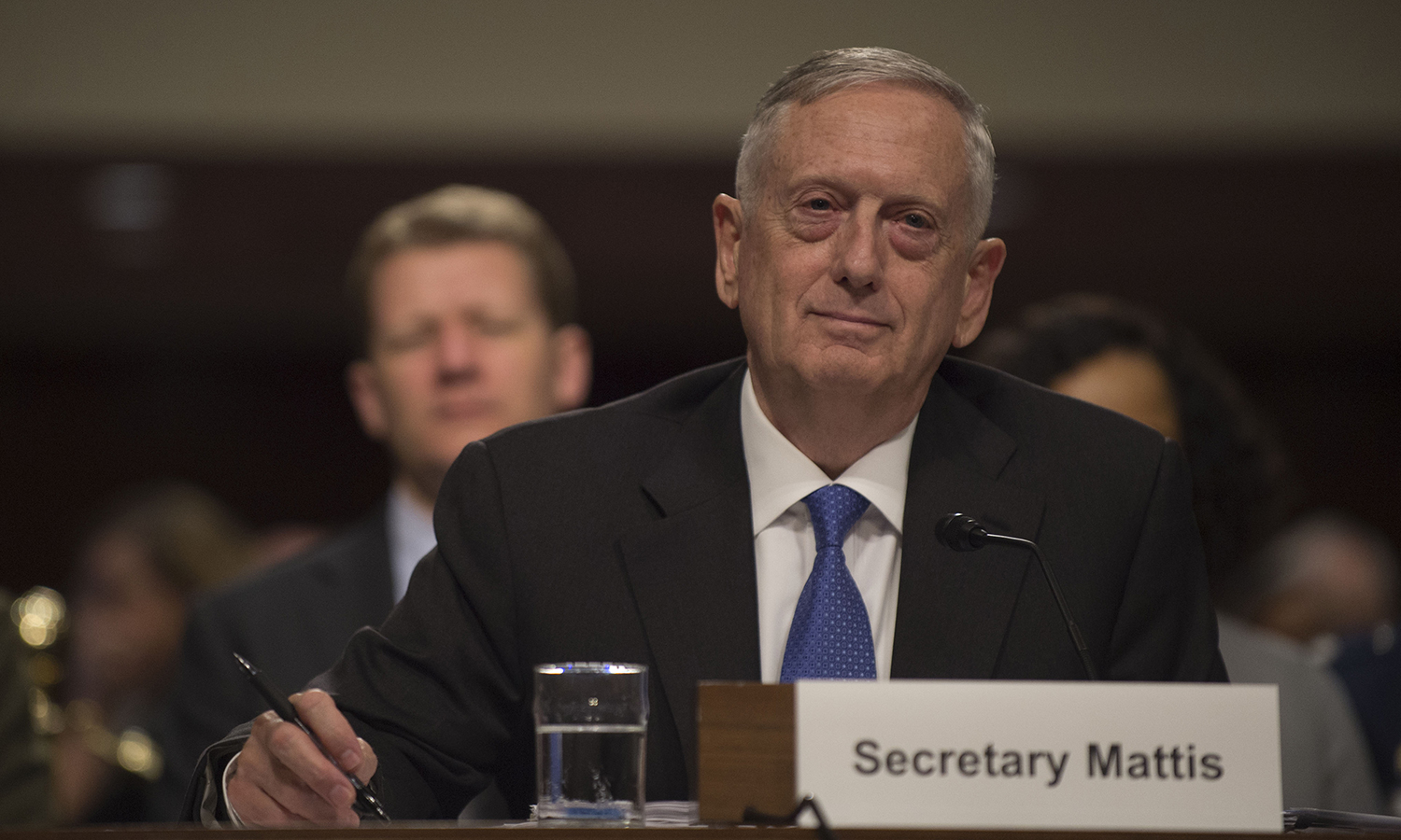 Defense Secretary Jim Mattis provides testimony on the Fiscal Year 2018 National Defense Authorization Budget Request from the Department of Defense to members of the Senate Committee on Armed Services in the Dirksen Senate Office Building in Washington D.C., June 13, 2017. (photo credit: DOD photo by U.S. Army Sgt. Amber I. Smith).