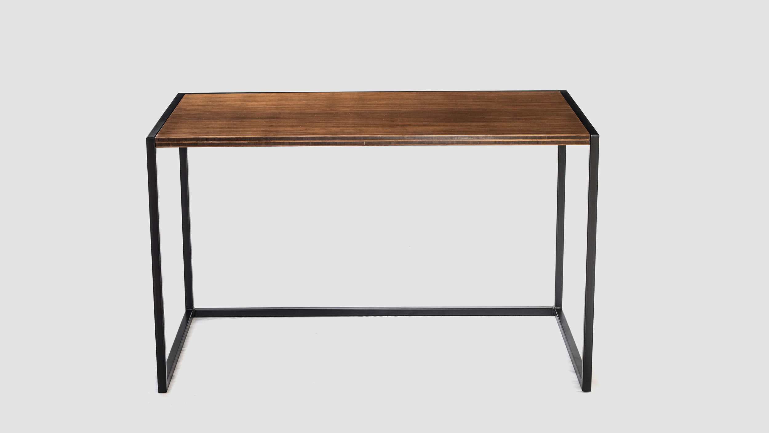 Bamboo and steel desk
