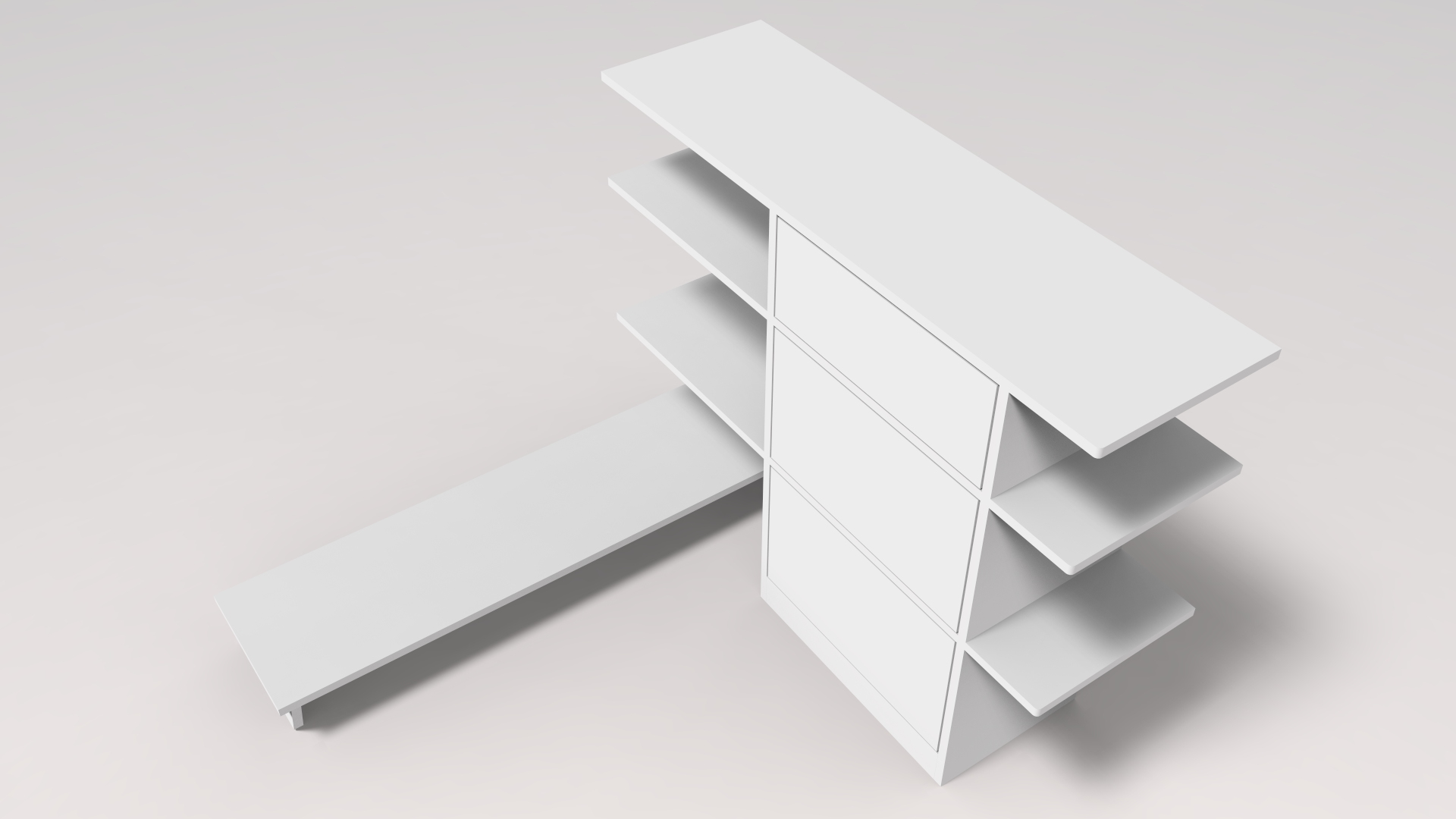 Basic CAD render for wardrobe unit