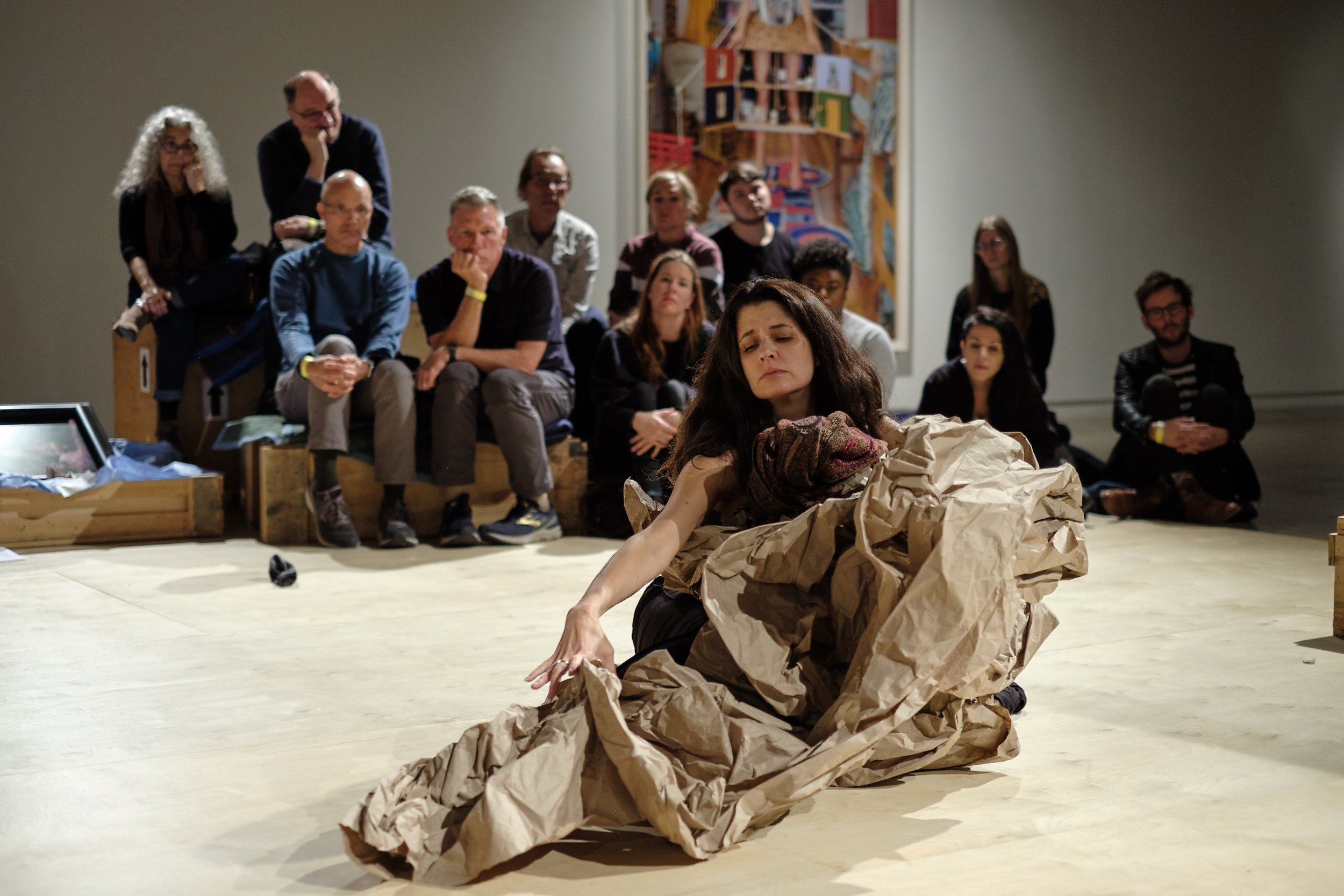 Paper Dance  in collaboration with Anna Halprin at The Contemporary Austin. Photograph by Giulio Sciorio  January 27 - March 17, 2019