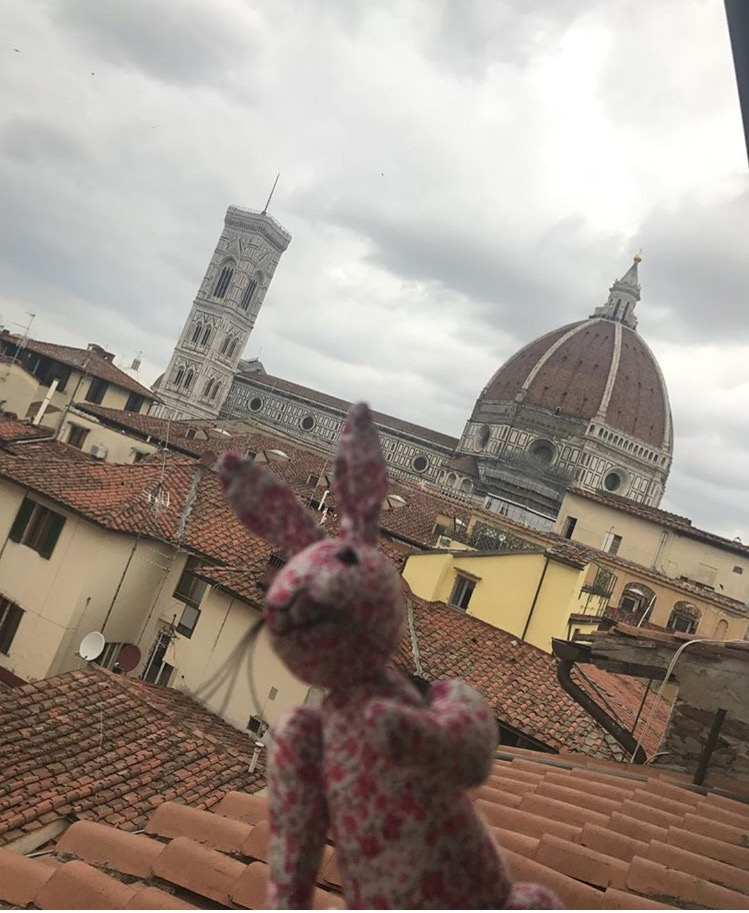 Our Phoebe enjoying the view of the Duomo Firenze